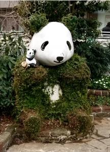 パンダのベンチ