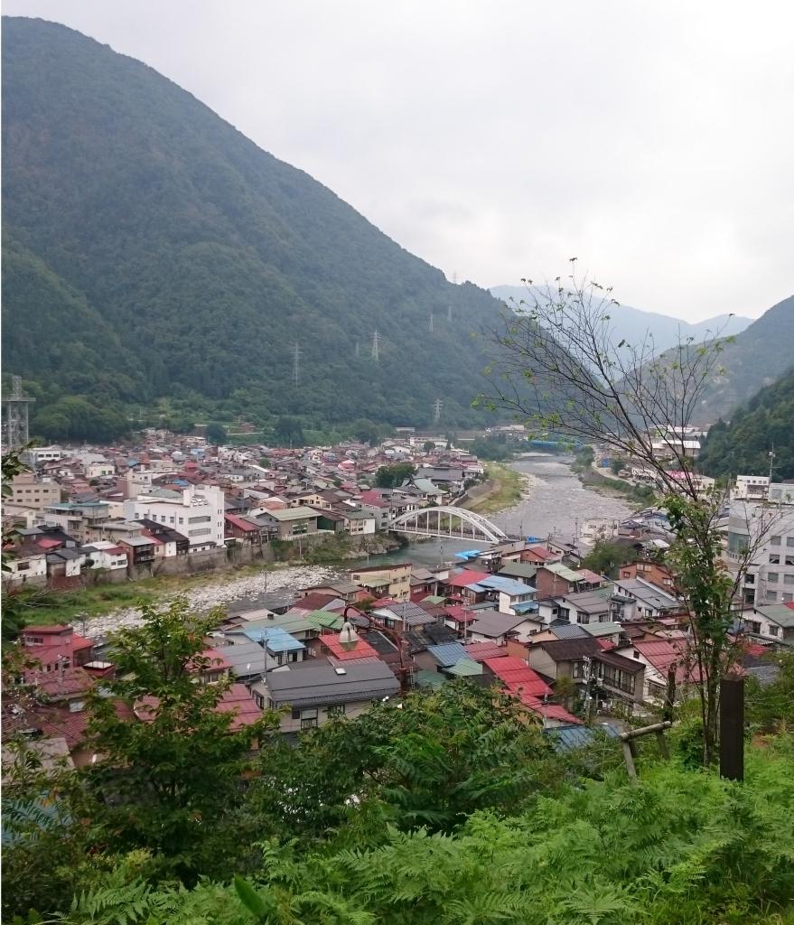 神岡城からの眺め